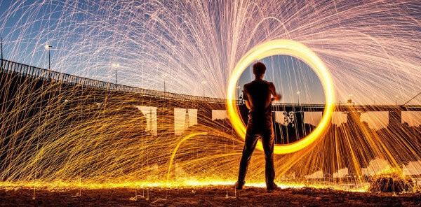 """Fire wheel"" de Brad Tierney"