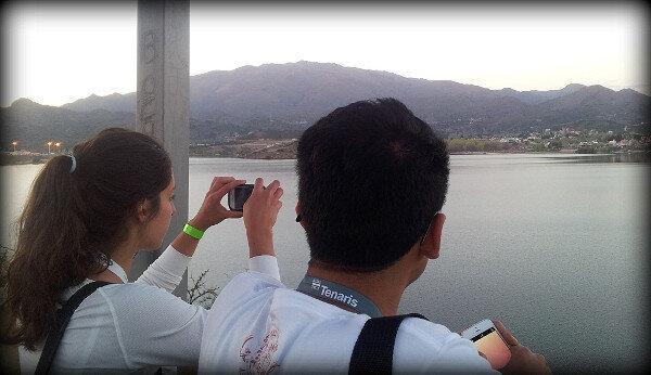Con Lu y Alvaro en el Mirador de Potrero de los Funes