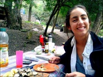 En la Quebrada de San Lorenzo compartiendo un asado con Mati.