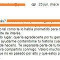 mail agradeciendo