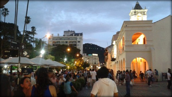 Ciudad de Salta Capital, Arg. al atardecer.