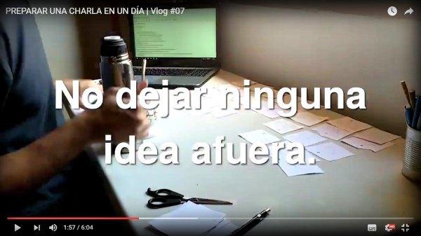Esta es una captura del 1° día del desafío :) El vídeo es un paso-a-paso para preparar una charla en 6 horas (o menos)