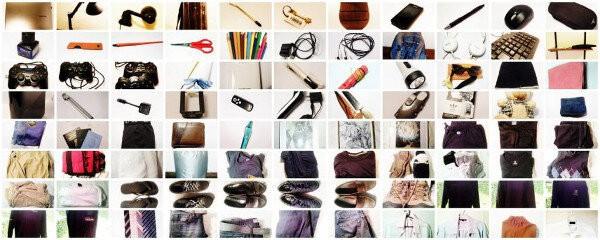 Minimalismo - Imagen de nuestro primer inventario en el reto de las 100 cosas