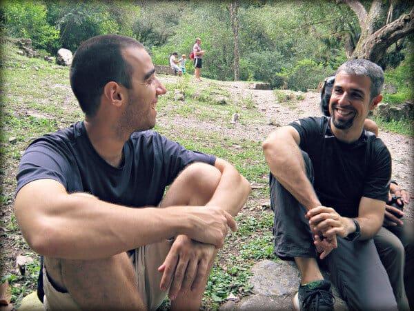 Matías y Javier, charlando