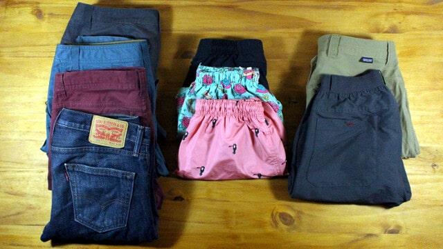 Vivir con 100 cosas: Pantalones